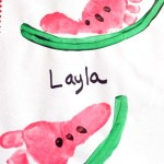 Footprint Watermelon Craft for Kids