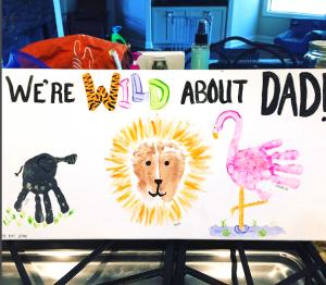 Wild About Dad Handprint Canvas