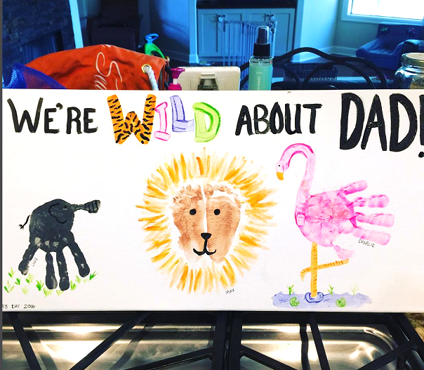 Wild About Dad Handprint Canvas