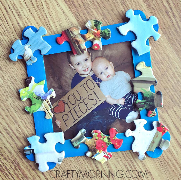 love you to pieces father 39 s day frame gift crafty morning