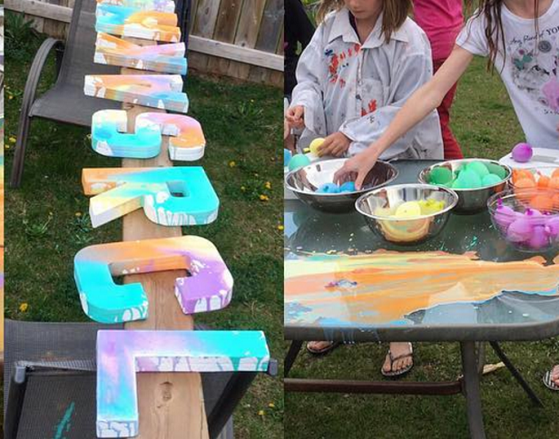 painting-letter-party-balloons-kids
