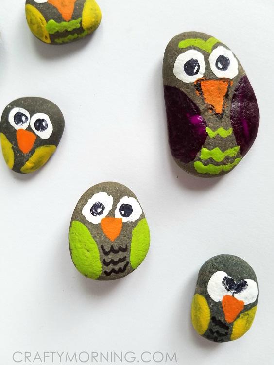 rock-owl-craft-for-kids