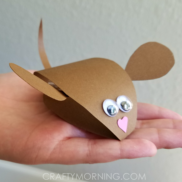 3d Paper Mouse Craft For Kids Crafty Morning
