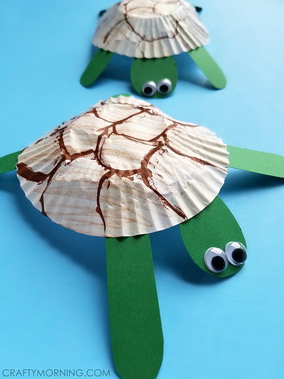 cupcake-liner-turtle-craft-for-kids