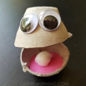 Egg Carton Oyster Kids Craft