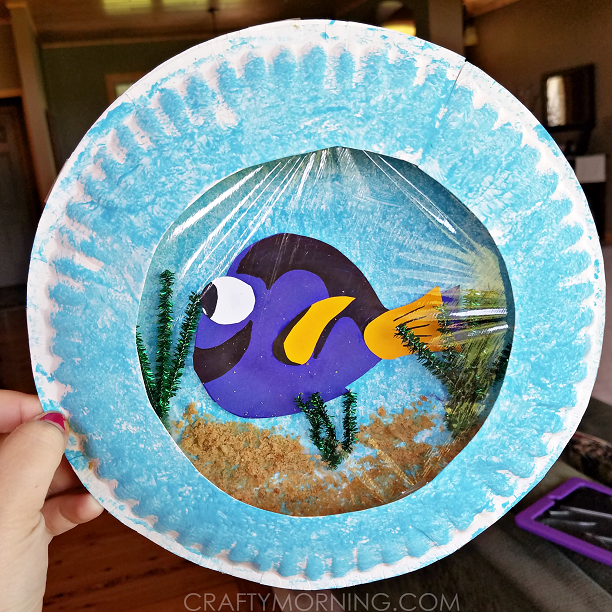 Finding dory paper plate craft crafty morning for Finding dory crafts for preschoolers