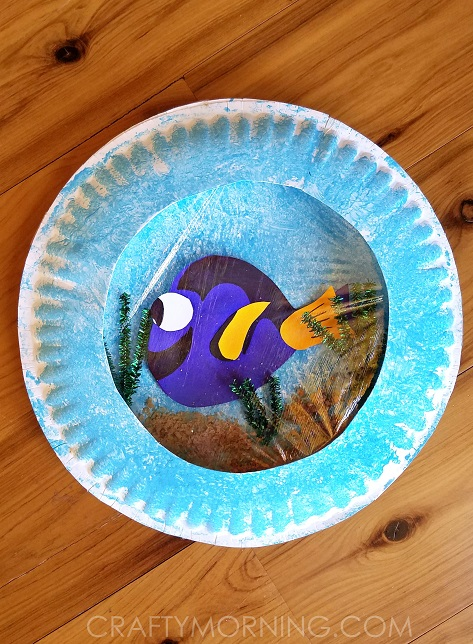 Finding Dory Paper Plate Craft Crafty Morning