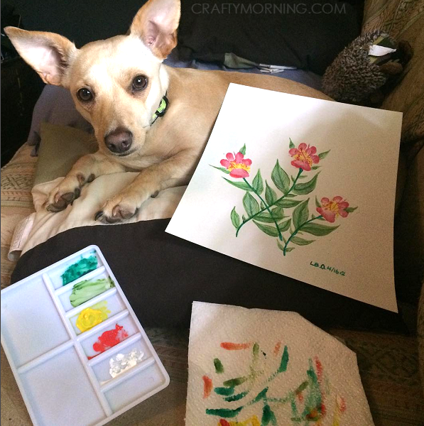 paw-print-dog-flower-craft