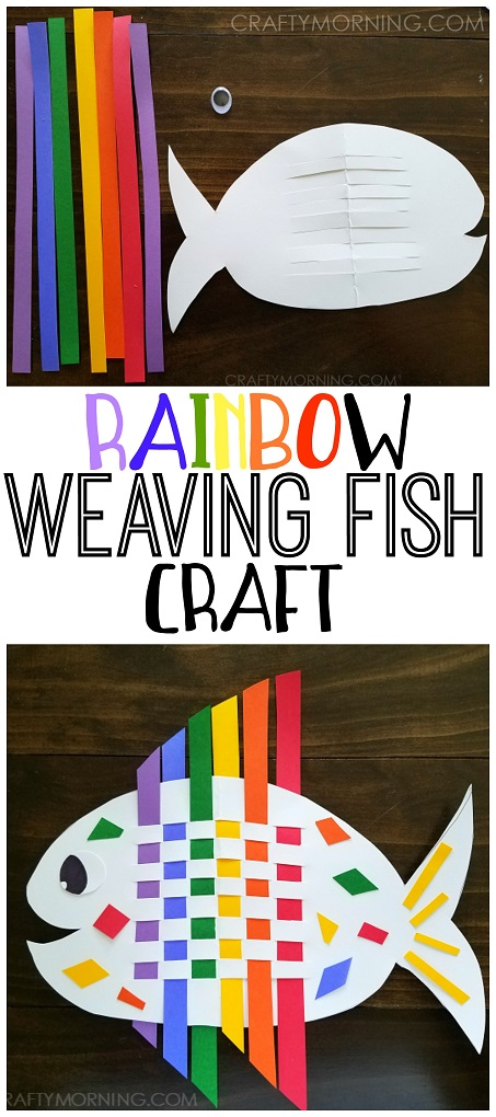 Weaving Rainbow Fish Kids Craft Crafty Morning