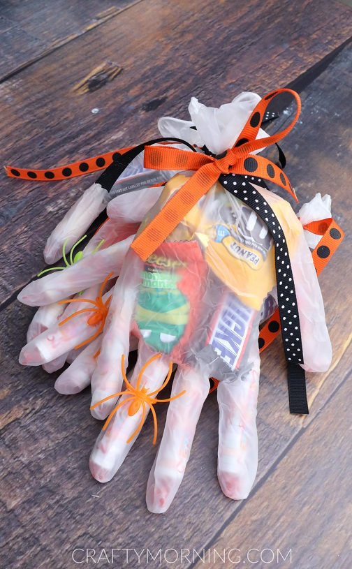 Halloween Candy Ideas.Halloween Candy Glove Treats Crafty Morning