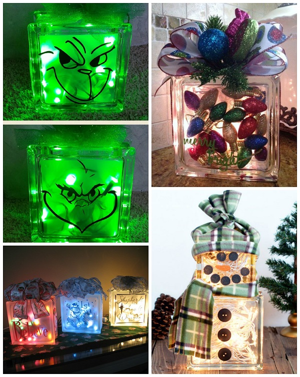 Awesome Glass Block Craft Ideas For Christmas Part - 2: Christmas-glass-block-craft-ideas