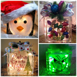Christmas Glass Block Craft Ideas