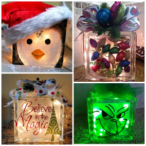 Christmas Glass Block Craft Ideas