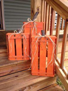 DIY Wood Crate Pumpkins