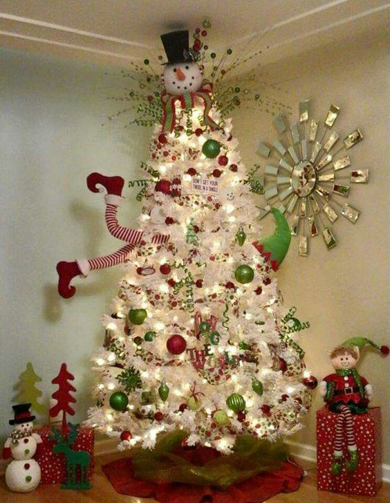 Where To Put The Christmas Tree clever white christmas tree decorating ideas - crafty morning