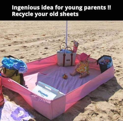 fitted-sheet-summer-beach-hack-for-kids