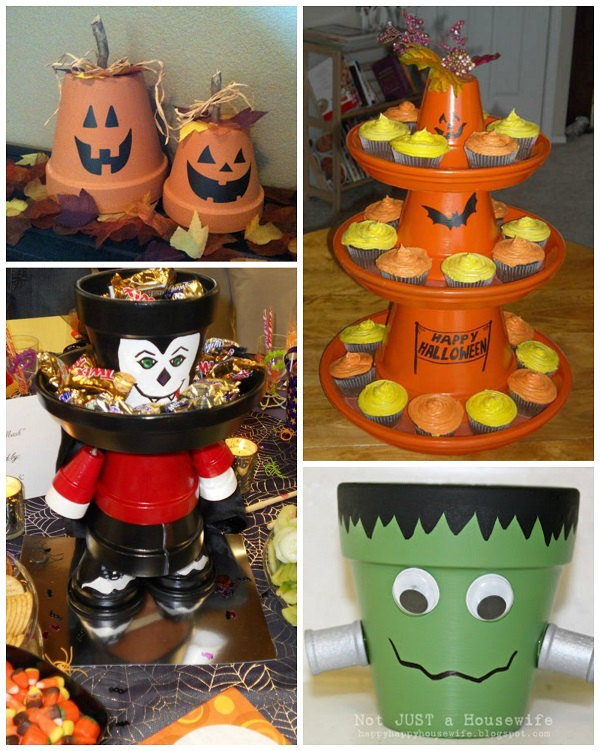 Flower pot halloween crafts crafty morning for Art and craft pot decoration