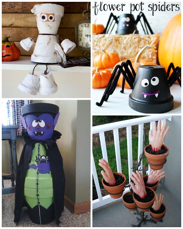 Flower pot halloween crafts crafty morning for Make flower craft ideas