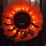 Glowing Halloween Tulle Wreath