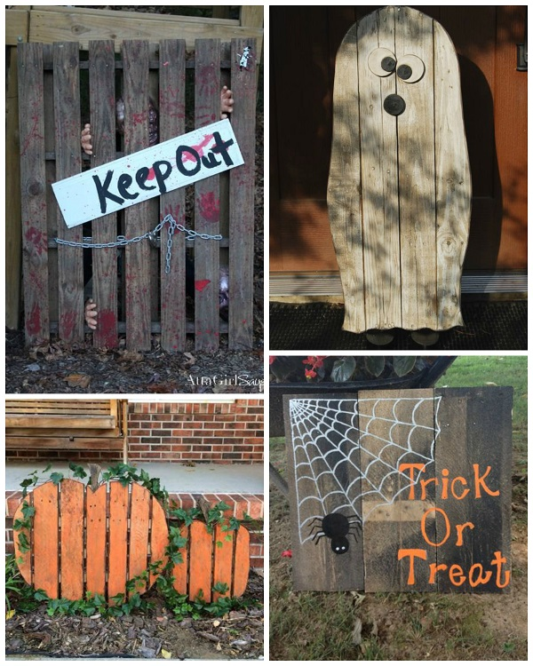halloween wood pallet decorations - Wooden Halloween Decorations