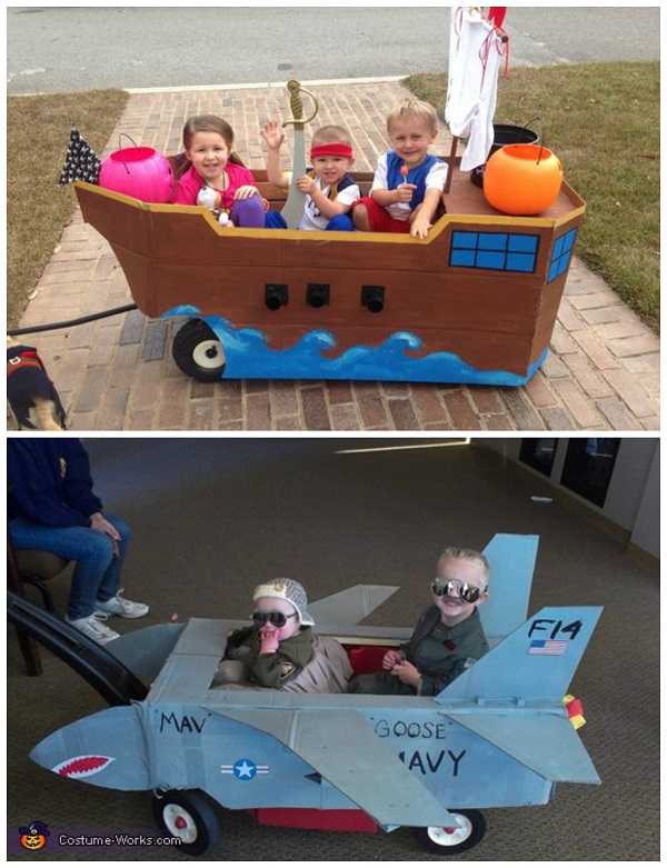 kids-halloween-costumes- on-wagon