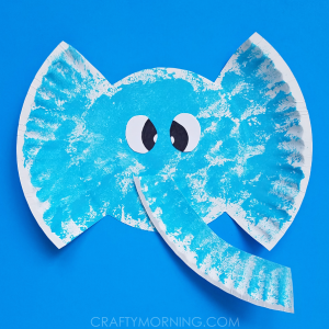 Paper Plate Elephant Kids Craft