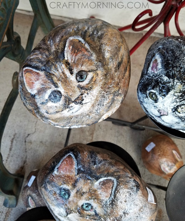 Painted Rocks Cats Owl Raccoon And Deer Crafty Morning