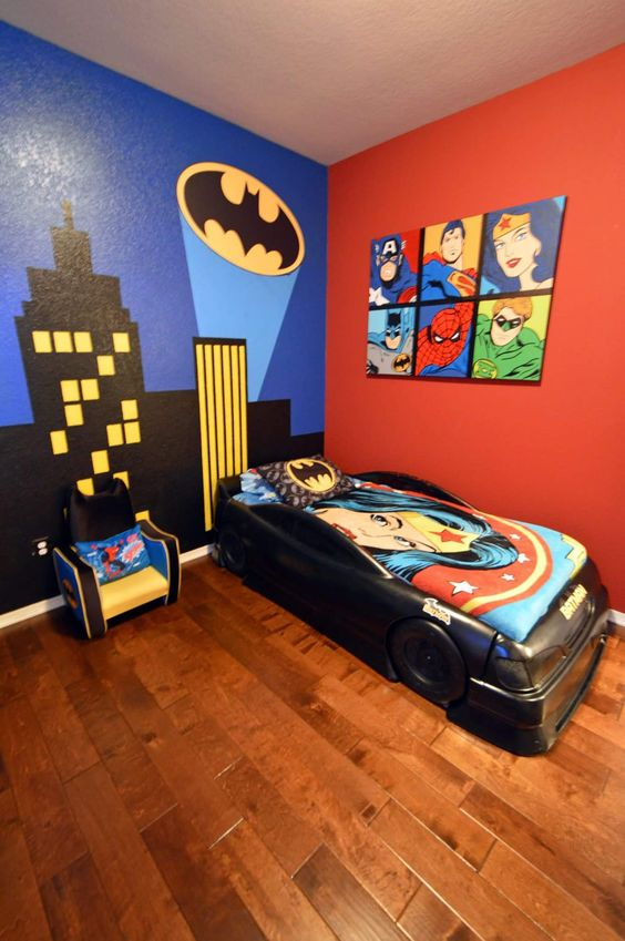 super hero wall ideas for kids crafty morning. Black Bedroom Furniture Sets. Home Design Ideas