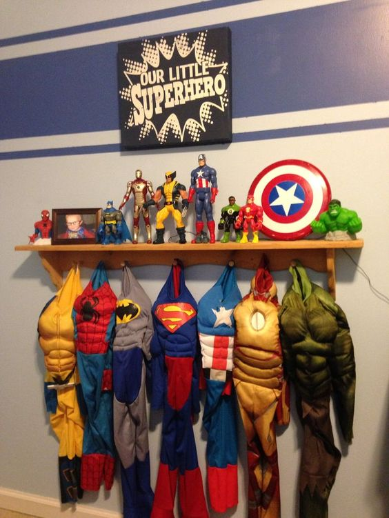 Super Hero Wall Ideas For Kids