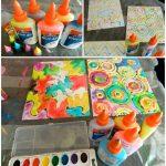 Watercolor & Glue Bottle Art for Kids