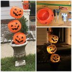 Tipsy Plastic Pumpkin Decoration