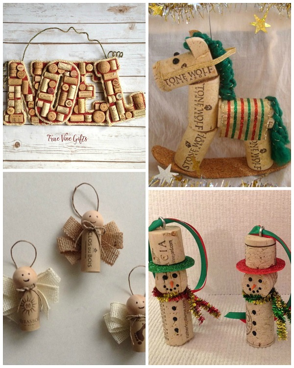 Cork Crafts Christmas Trees
