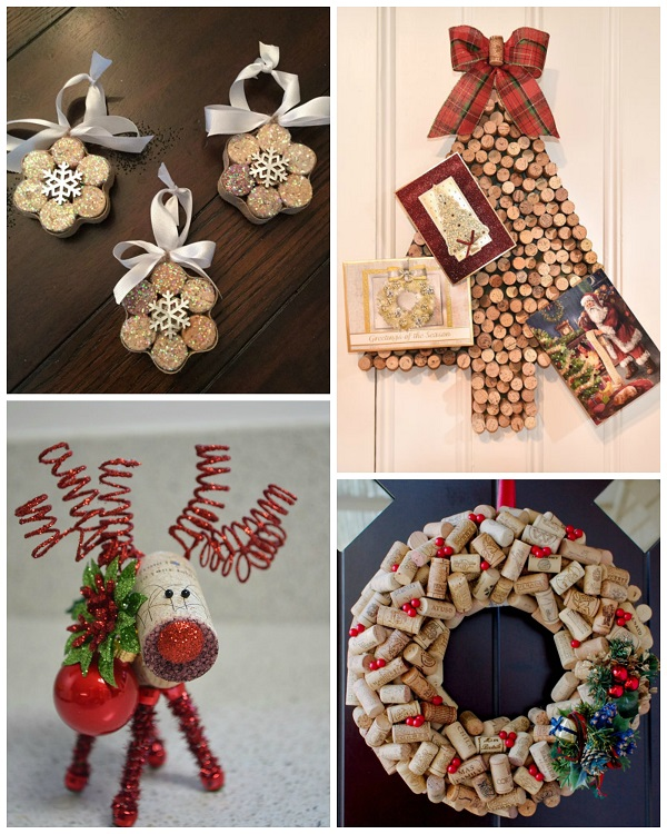 Wine cork christmas craft ideas crafty morning for Holiday project