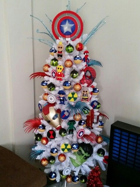 avengers-themed-christmas-trees
