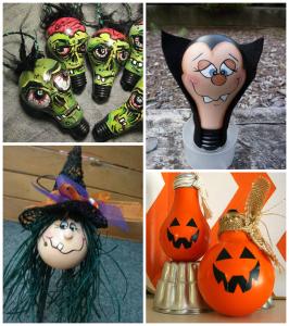 Halloween Light Bulb Crafts
