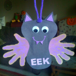 Hanging Handprint Bat Craft