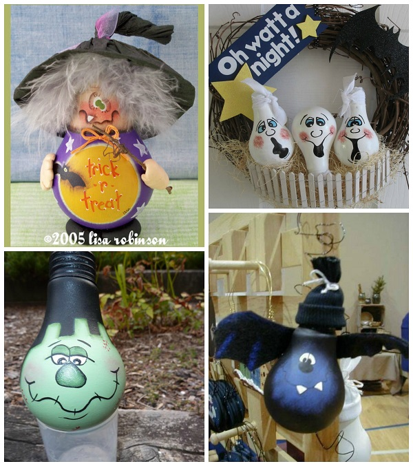 Charming Light Bulb Halloween Craft Ideas Design Inspirations