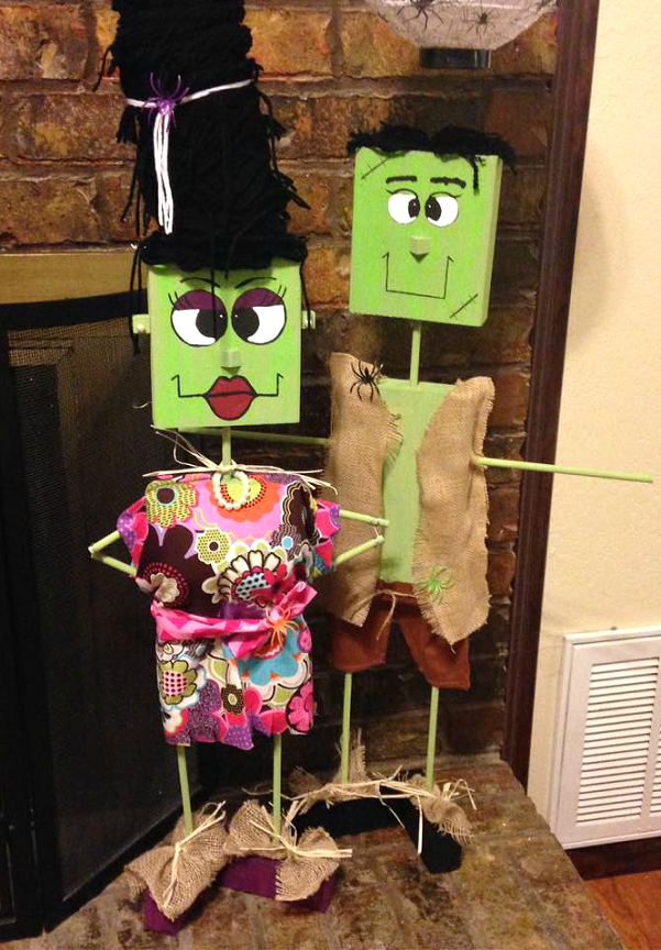 Wood Block Frankenstein Decorations Crafty Morning