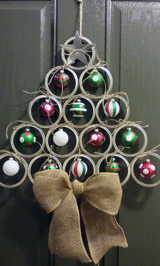 canning lid christmas tree hanger