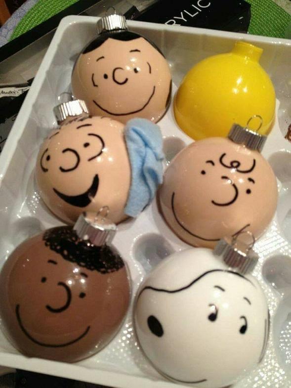Charlie Brown Gang Christmas Ornaments