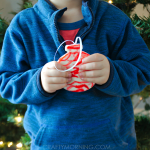 Melted Candy Cane Christmas Ornaments