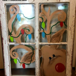 Old Window Reindeer Painting