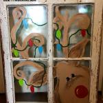 Old Window Reindeer Painting