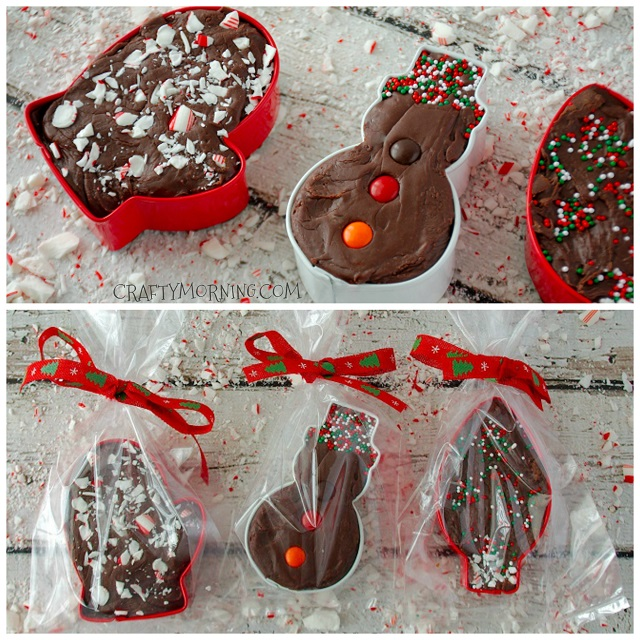 Cookie Cutter Fudge Christmas Gifts Crafty Morning