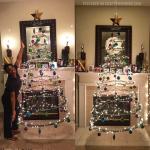 Floating Cardboard Christmas Tree Tutorial