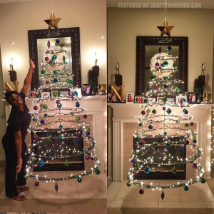 Floating Cardboard Christmas Tree Tutorial