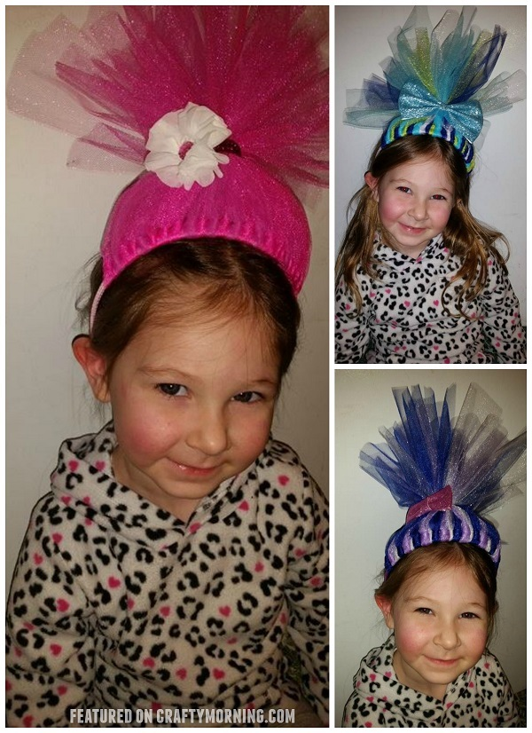 Diy tulle troll headbands crafty morning diy troll tulle headbands craft 1 solutioingenieria Images