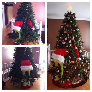 How to Make a Grinch Christmas Tree