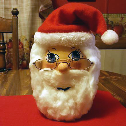 Mason Jar Santa Claus Craft Crafty Morning