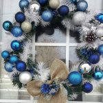 Blue Winter Christmas Ornament Wreath